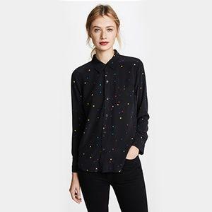 Rails Kate Shirt Rainbow Stars Black Size M
